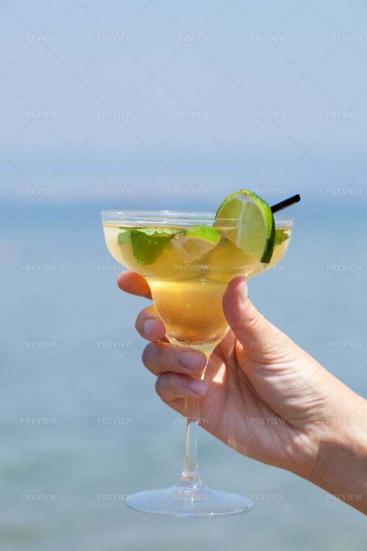 Glass Of Cocktail: Stock Photos