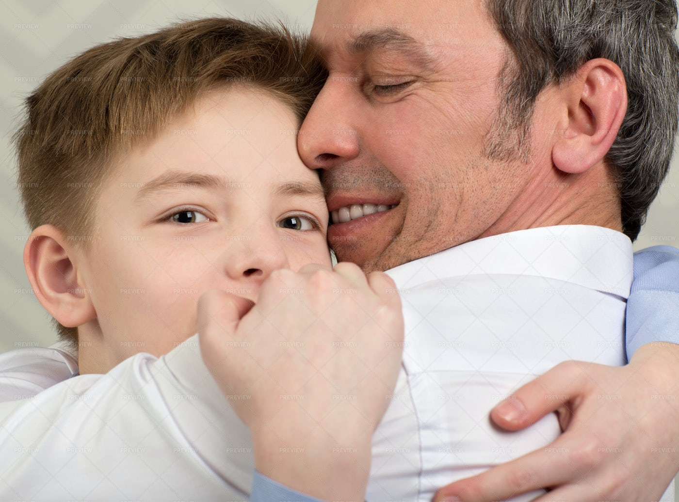 Loving Father And Son: Stock Photos