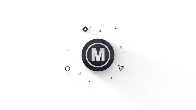 Minimal Particles Logo: After Effects Templates