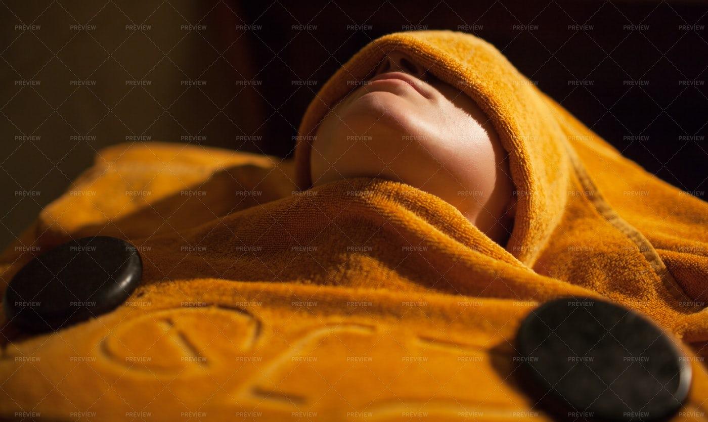 Hot Towel Treatment: Stock Photos