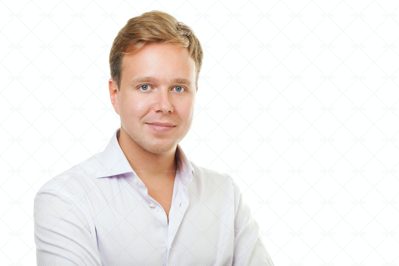 Young Man In White Shirt: Stock Photos