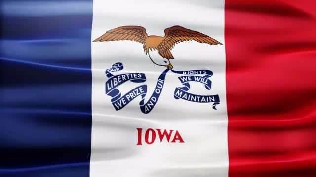 Iowa Flag: Stock Motion Graphics