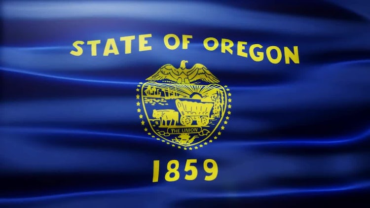 Oregon Flag: Stock Motion Graphics