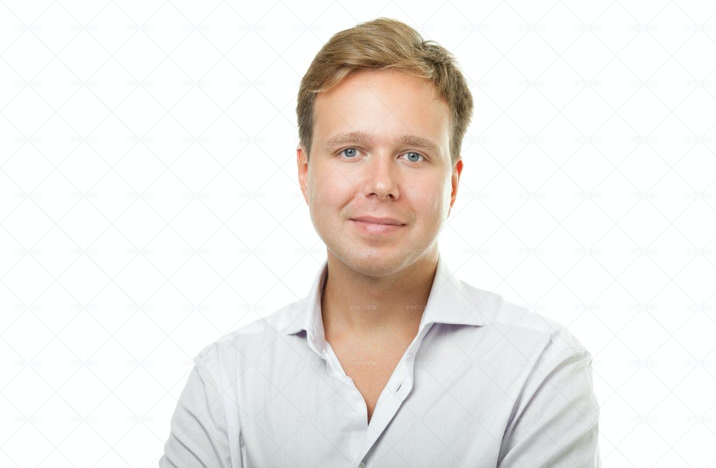 Portrait Of Blonde Man: Stock Photos