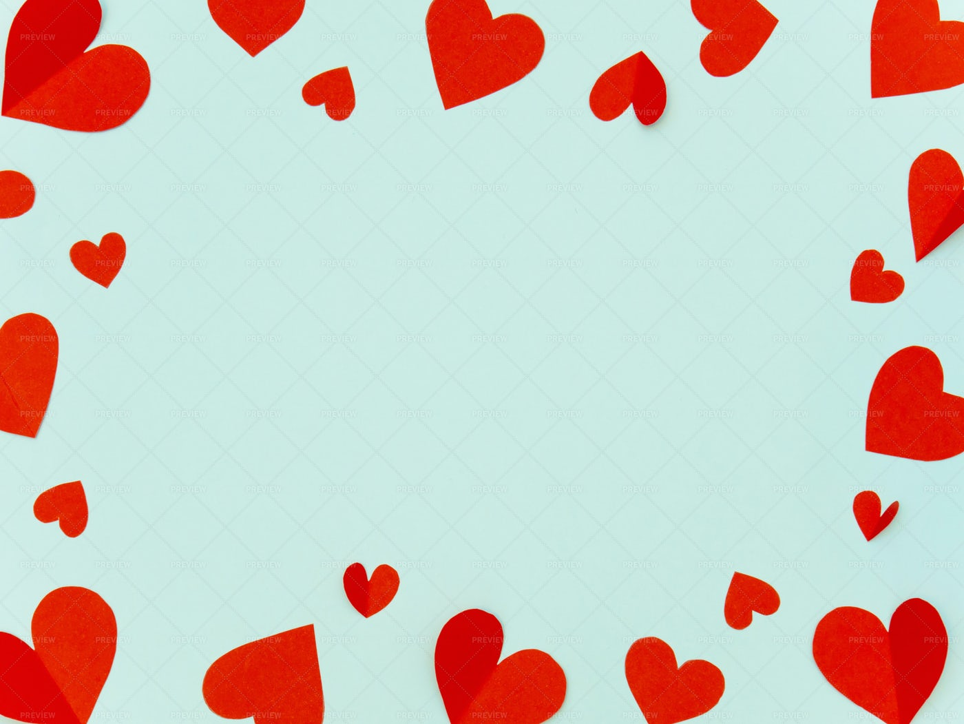 Red Heart Frame Background: Stock Photos