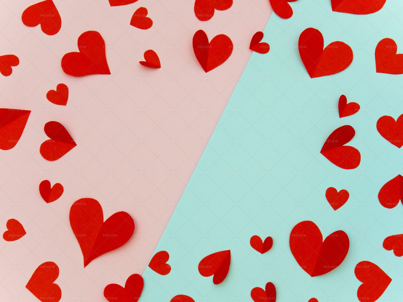 Valentine Background With Red Heart: Stock Photos