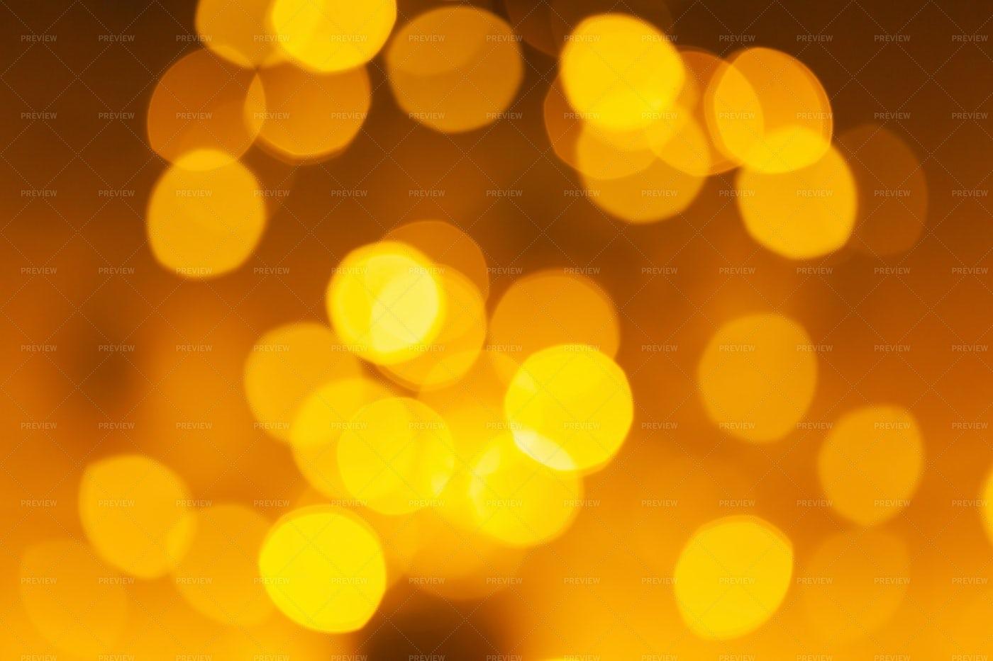 Blurred  Yellow Bokeh: Stock Photos