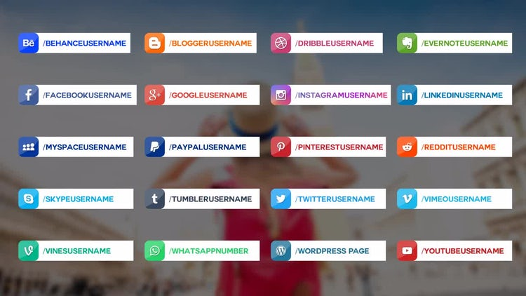 20 Social Media Lower Thirds: After Effects Templates
