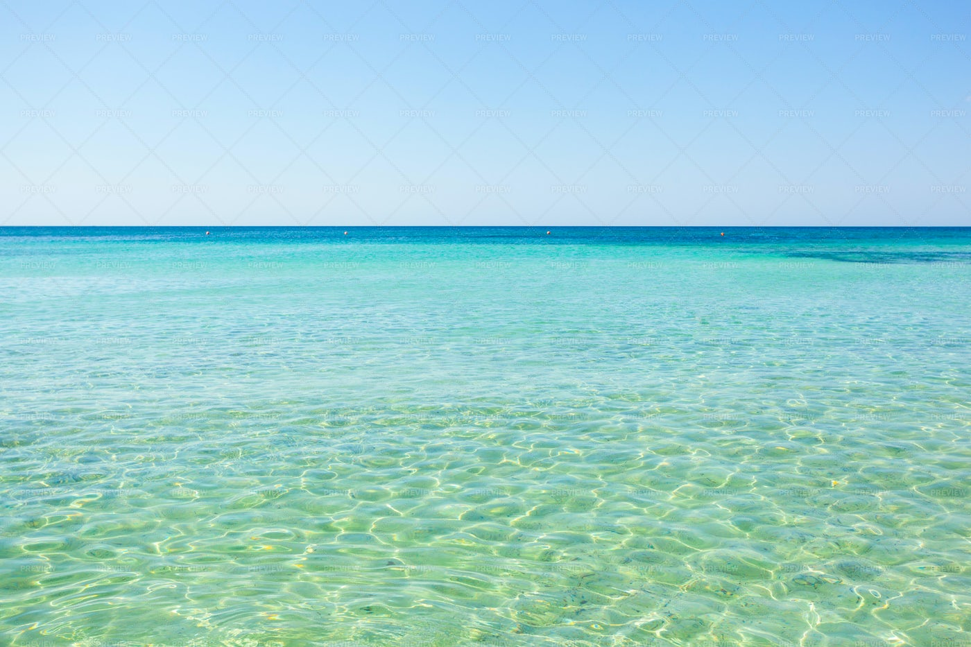 Turquoise And Blue Water Sea: Stock Photos