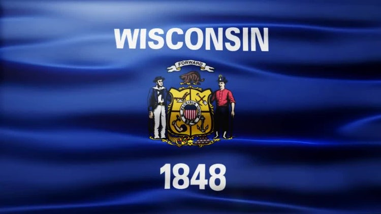 Wisconsin Flag: Motion Graphics