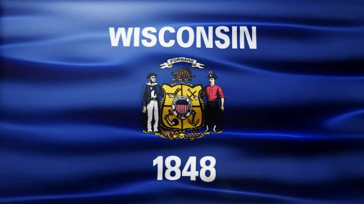 Wisconsin Flag: Stock Motion Graphics