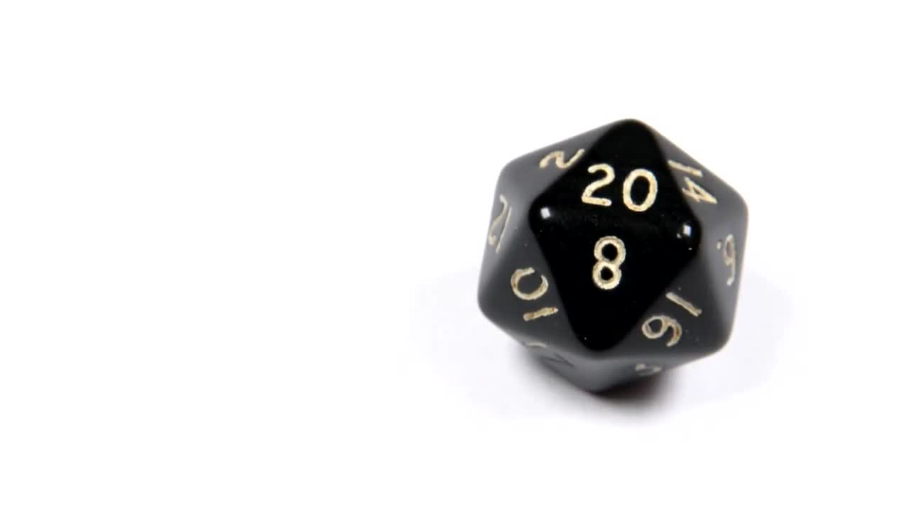 Dungeons And Dragons Dice - Stock Video | Motion Array