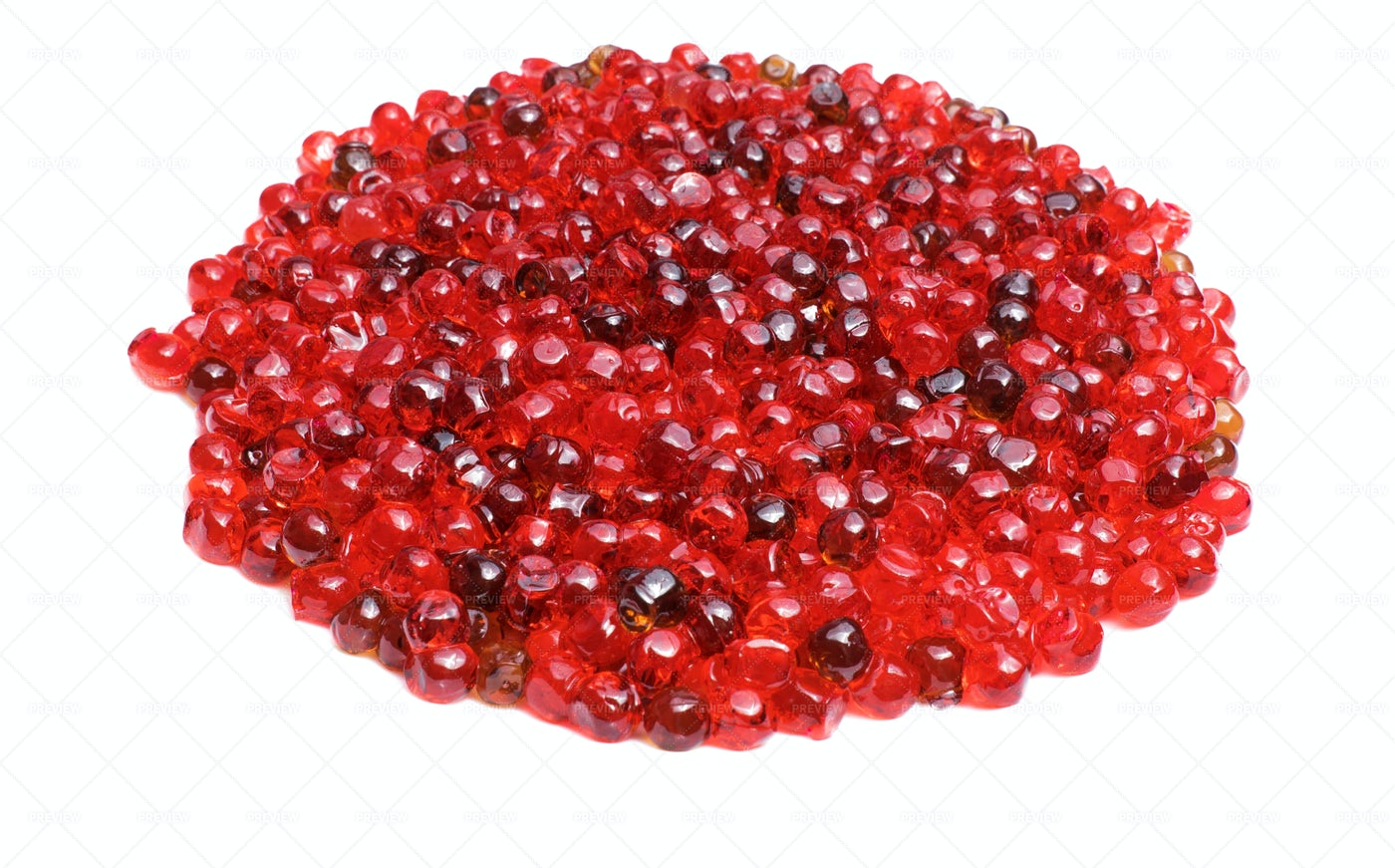 Red Caviar On A White Background: Stock Photos