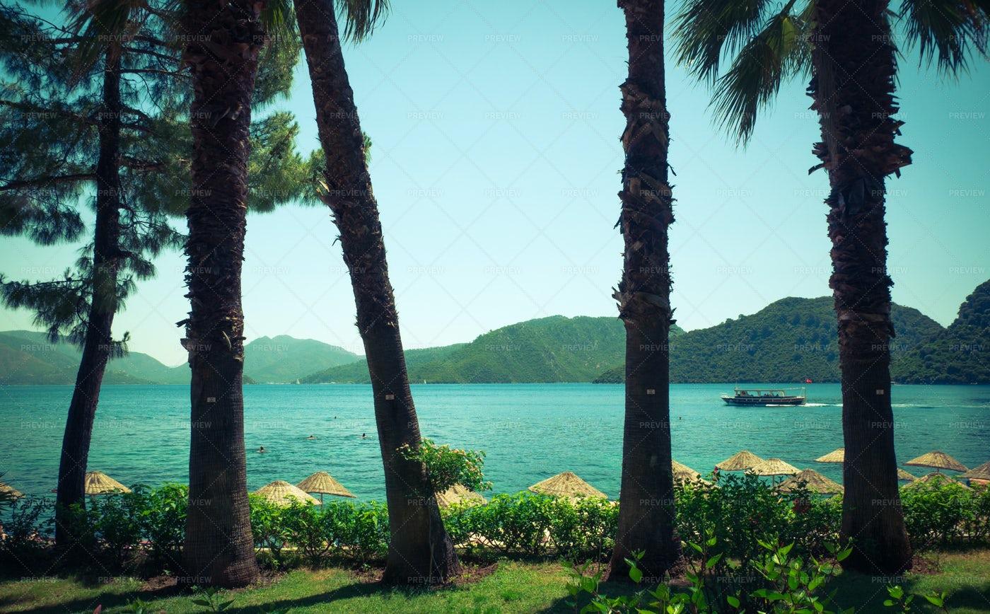 View To The Sea Bay: Stock Photos