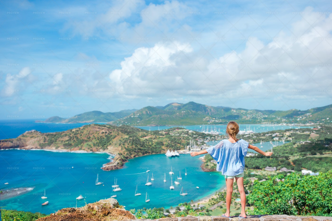Impressed By The View Of English Harbor: Stock Photos