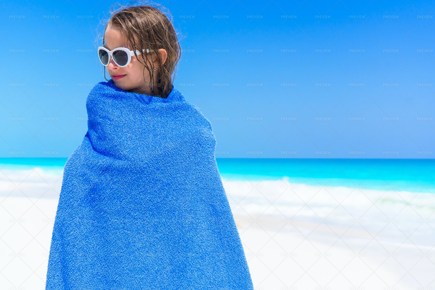 Child Wrapped Up In Towel: Stock Photos