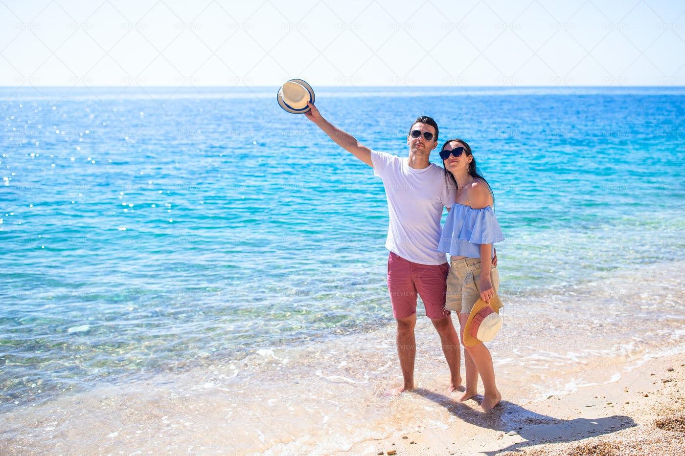 Couple By The Ocean: Stock Photos