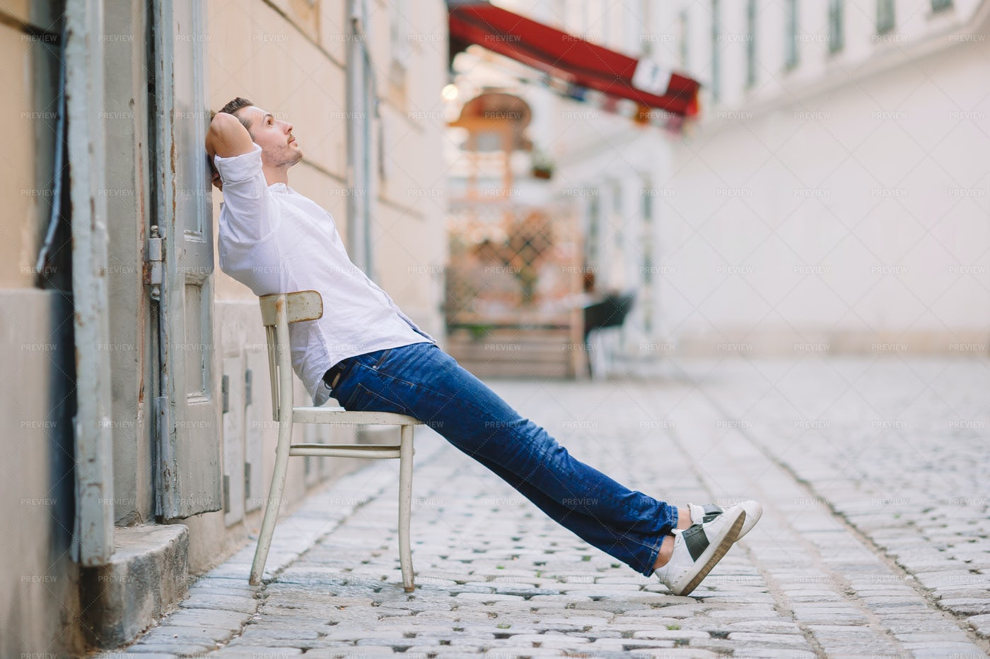 Relaxing In The Street: Stock Photos