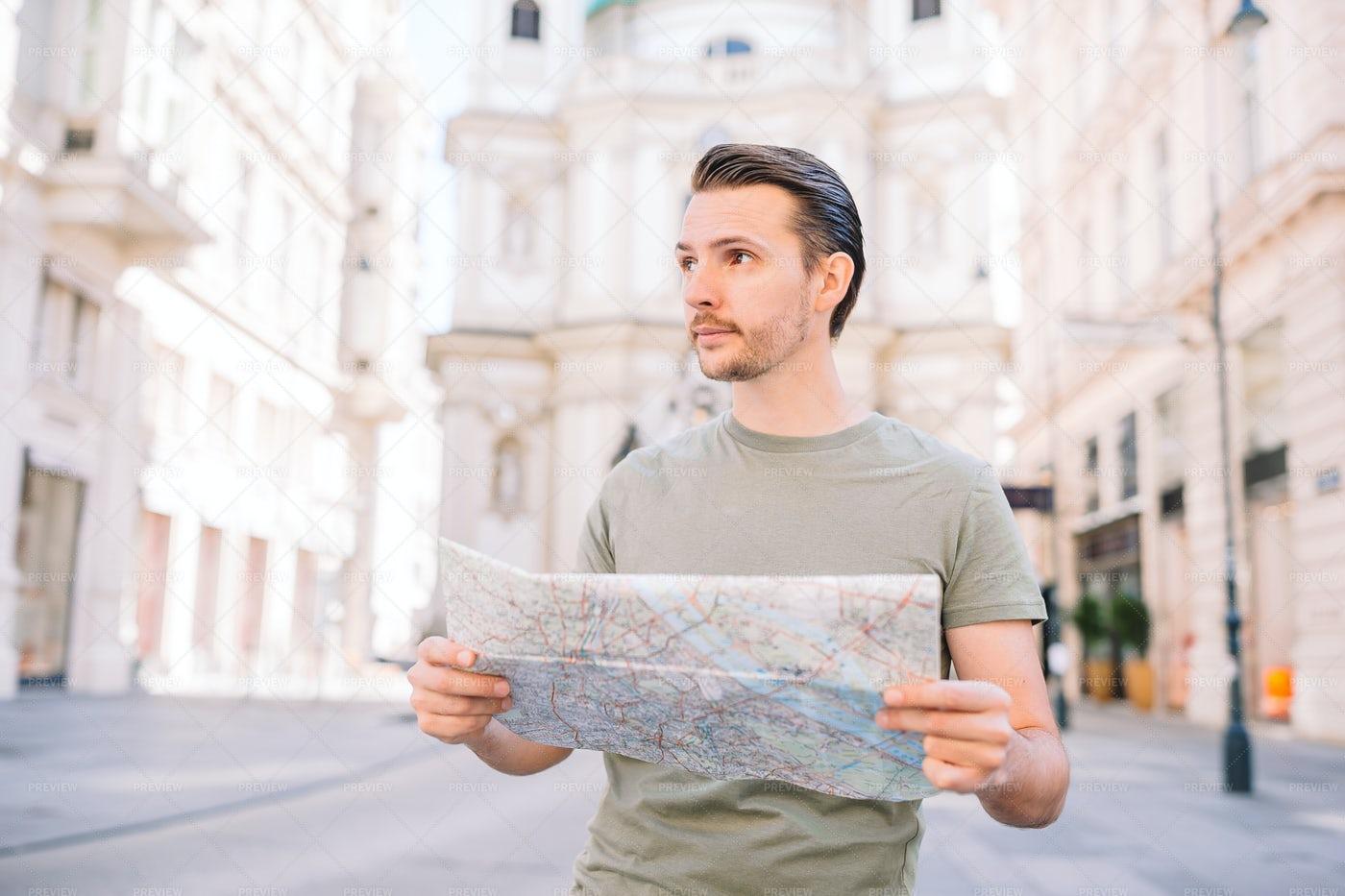 Exploring With A Map: Stock Photos
