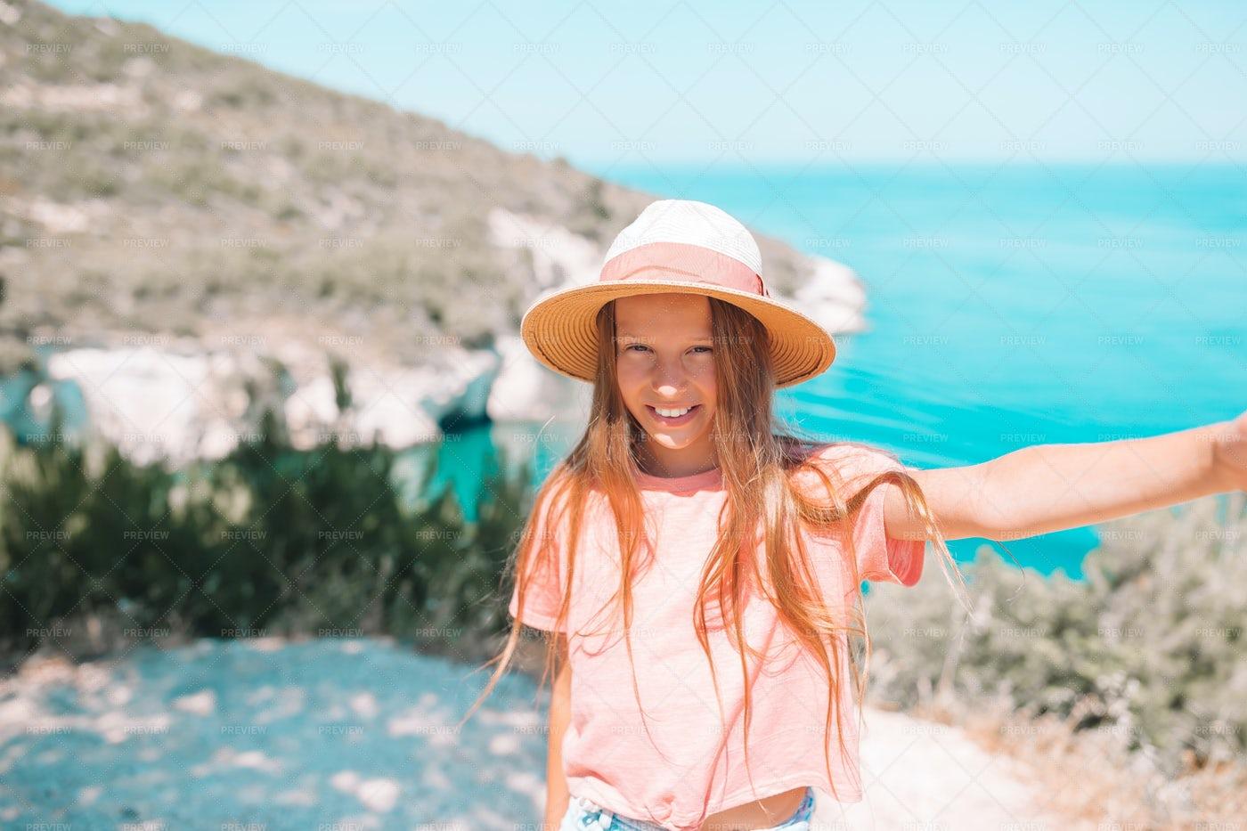 Little Girl In Sun Hat: Stock Photos