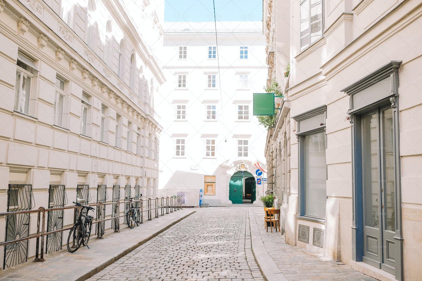 Empty Street In Vienna: Stock Photos