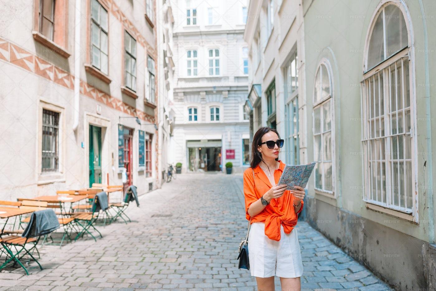 Tourist Holding A Map: Stock Photos