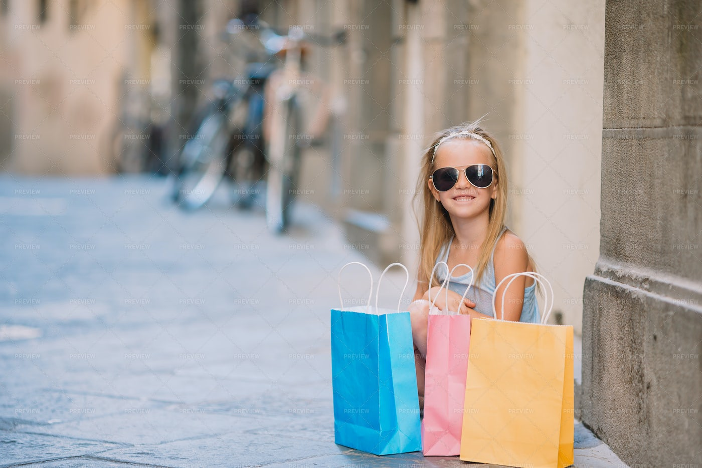 Child With Shopping Bags: Stock Photos