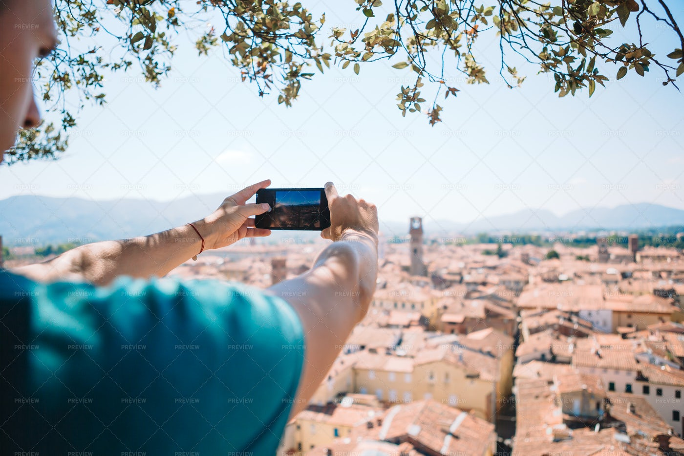 Taking Photo Of Venice Rooftops: Stock Photos
