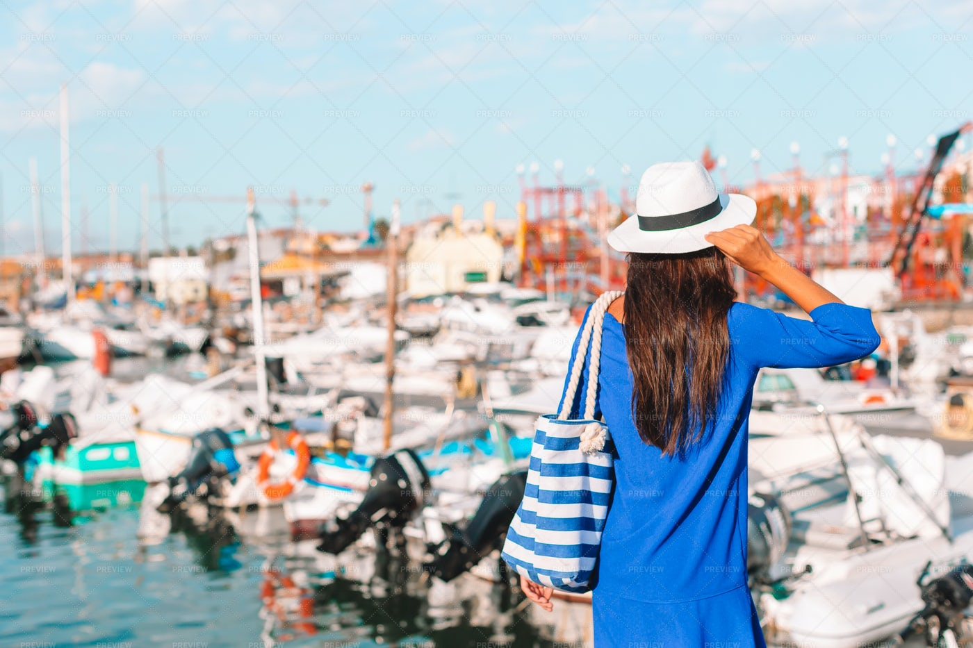 Relaxing At The Dock: Stock Photos