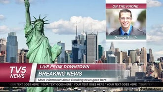 Breaking News Graphic Package: After Effects Templates
