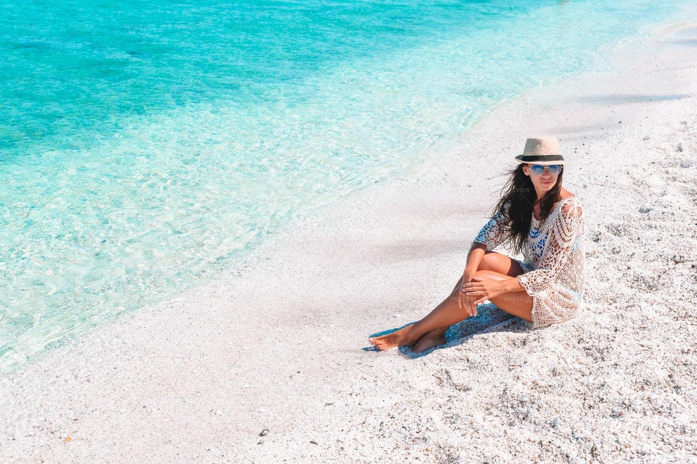 Sitting On A Caribbean Beach: Stock Photos