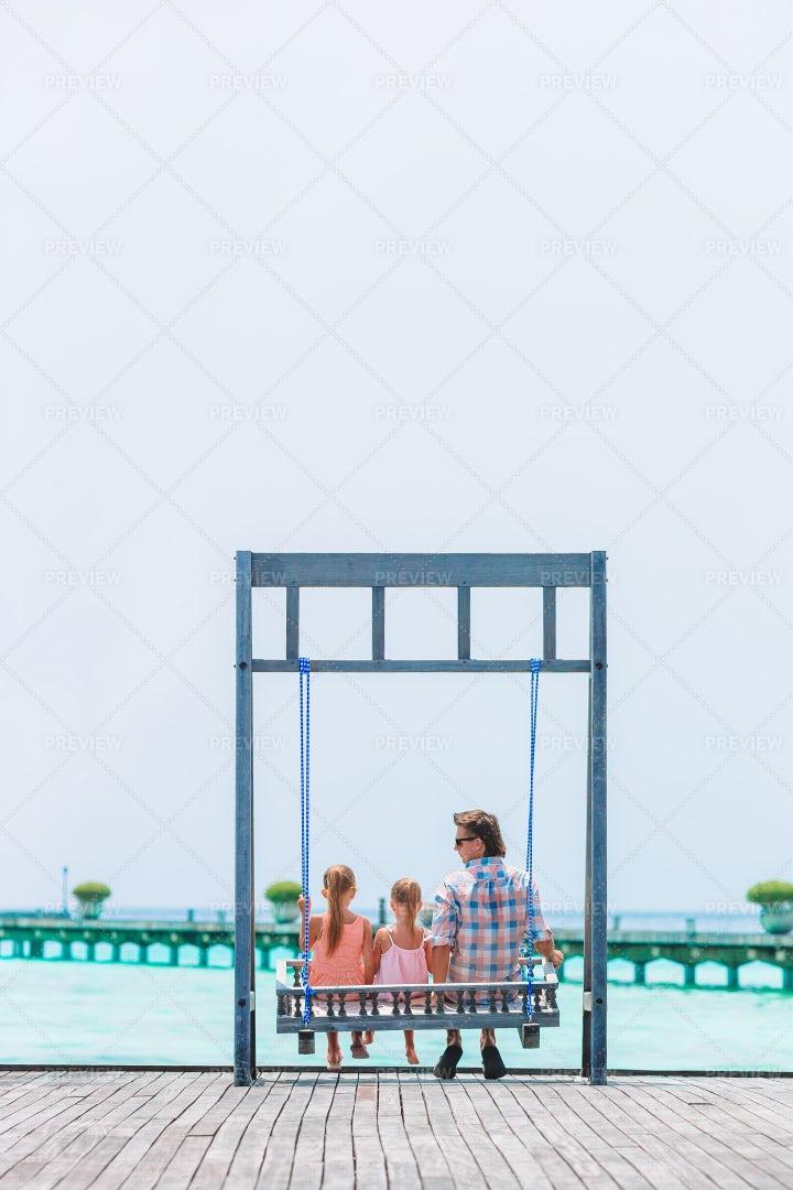 Seaside Swing: Stock Photos