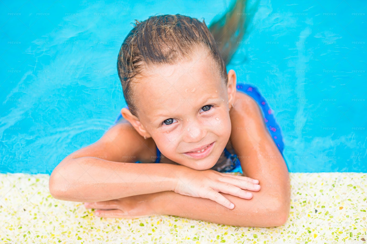 Kid In A Pool: Stock Photos