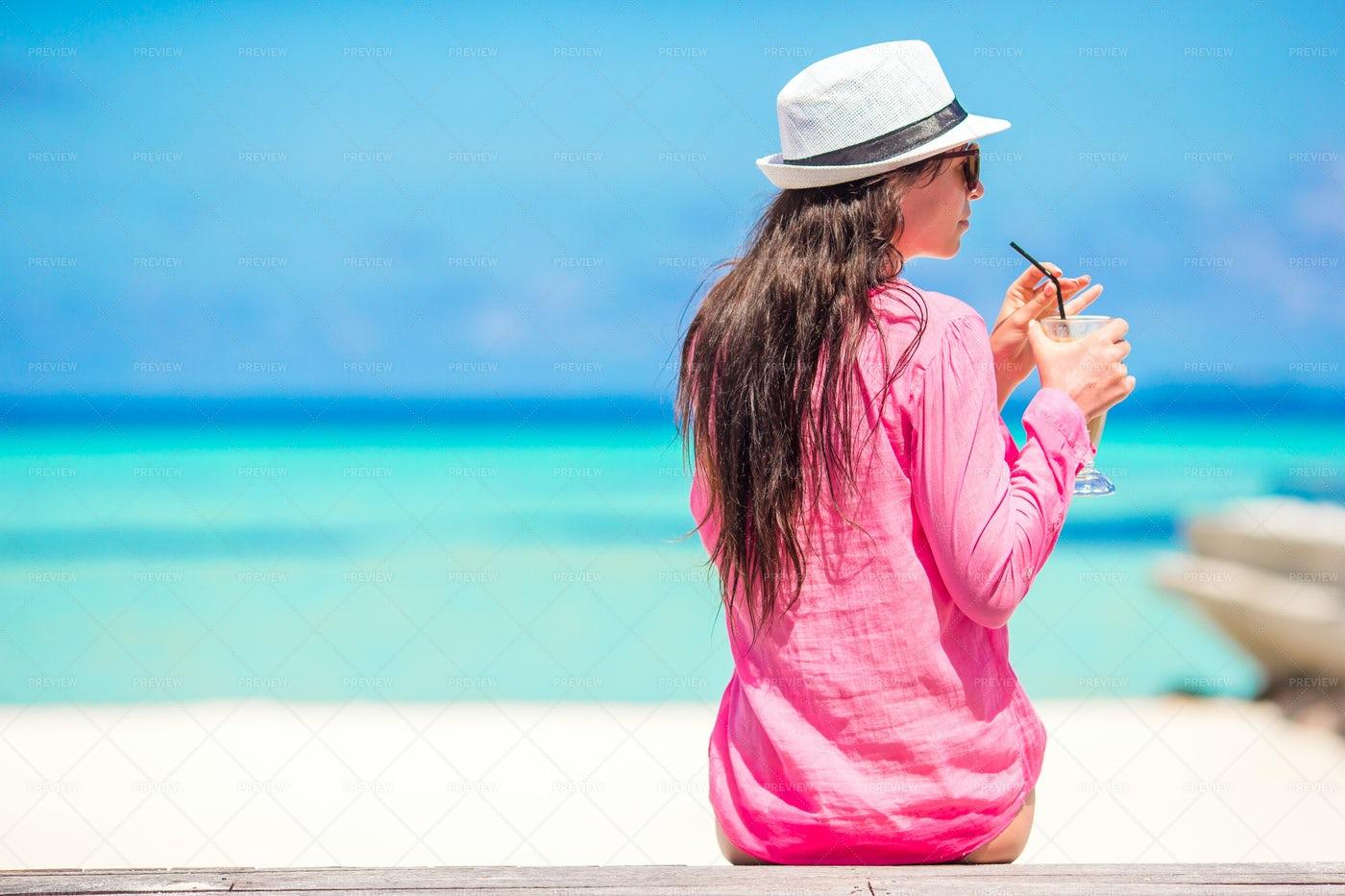 Woman Drinks Juice: Stock Photos