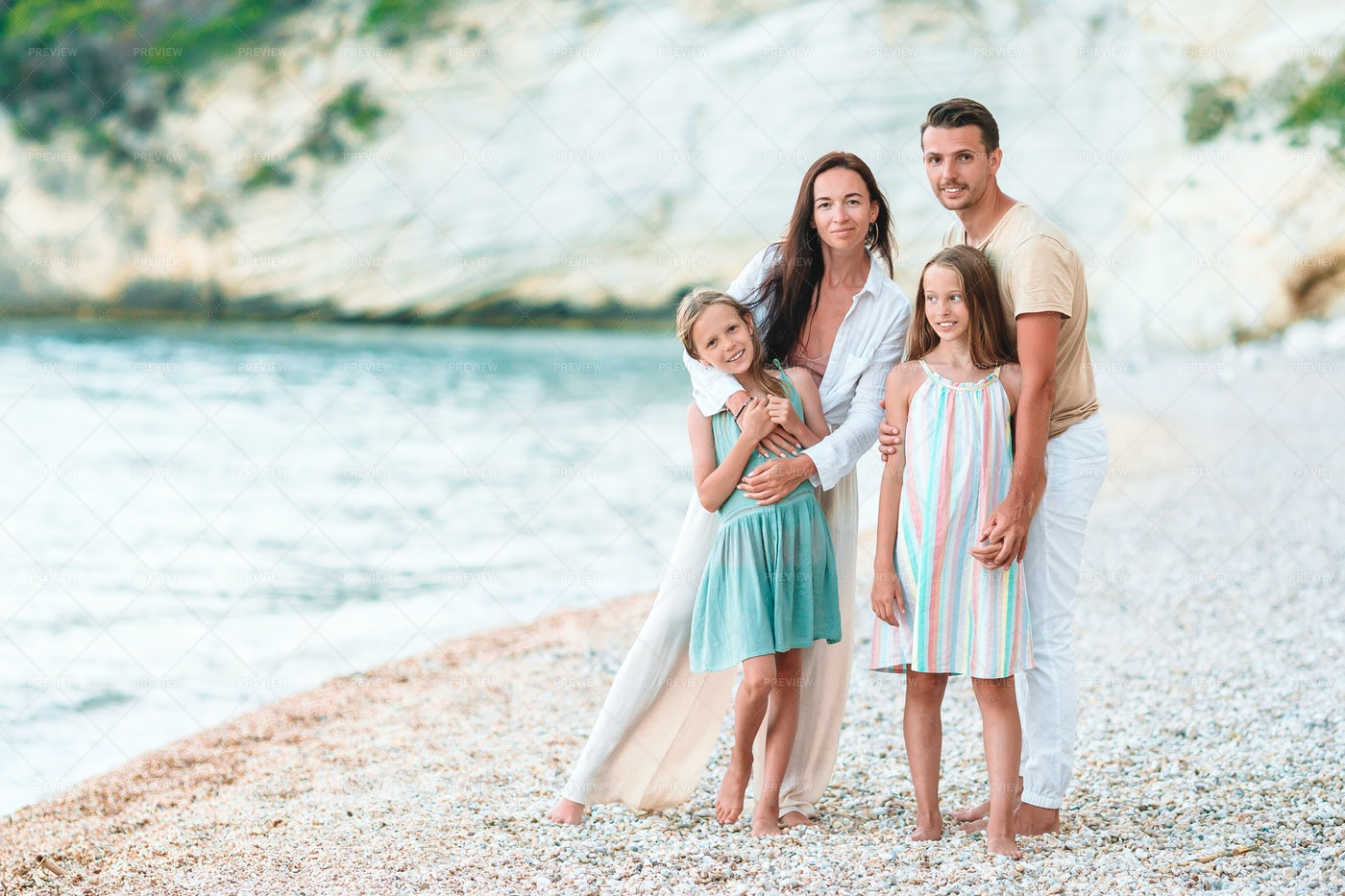 Happy Family During Vacations: Stock Photos