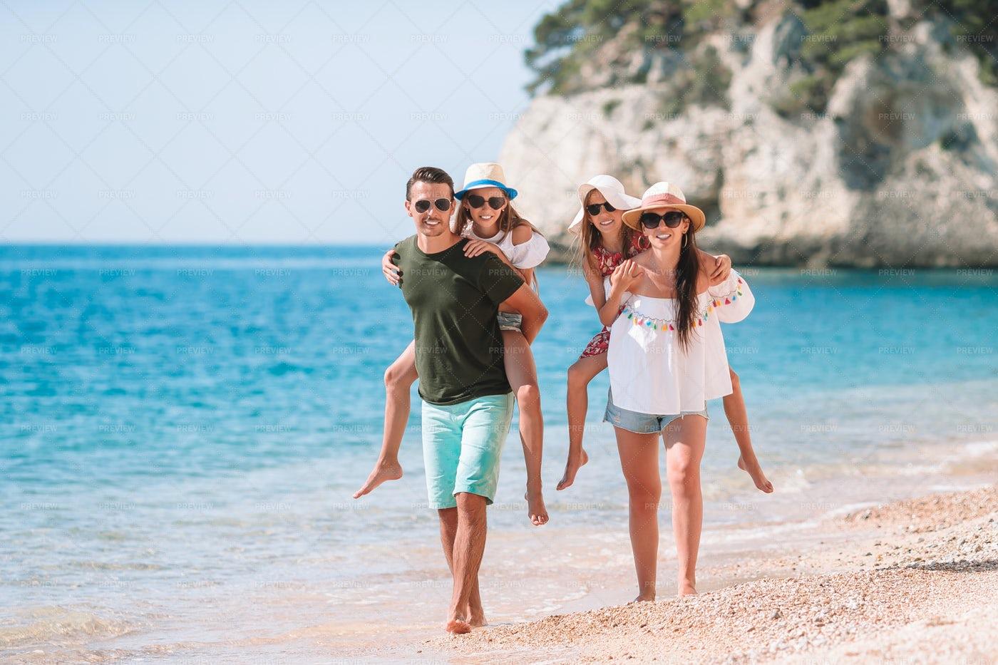 Family Having Fun On Vacations: Stock Photos
