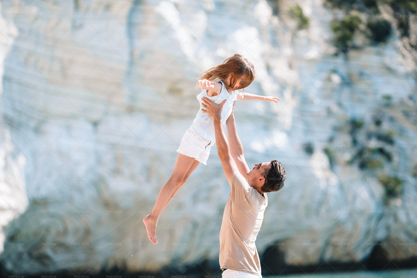 Father Playing With His Daughter: Stock Photos
