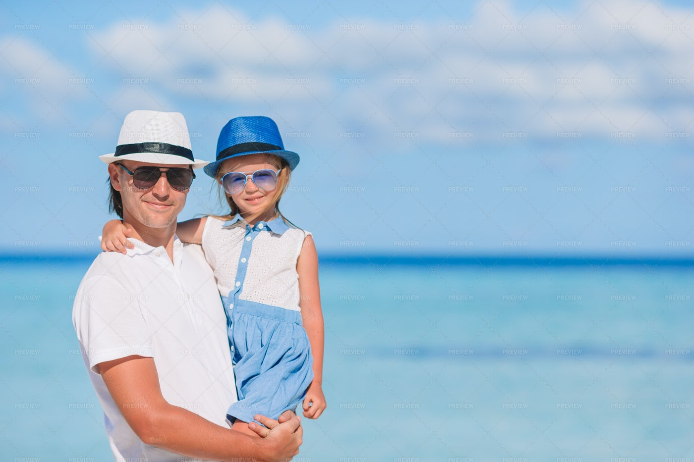 Father And Daughter On Vacation: Stock Photos