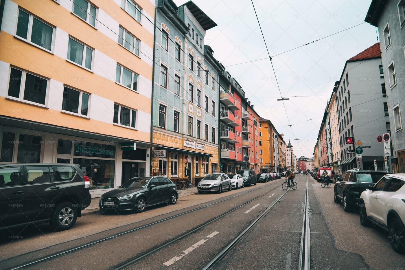 Munich Streets: Stock Photos