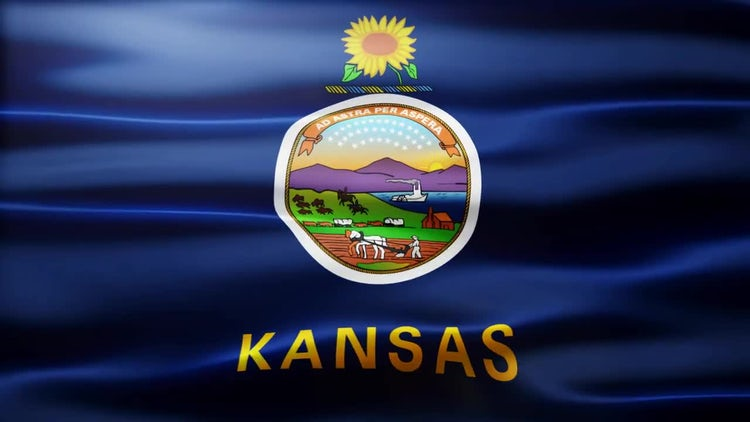 Kansas Flag: Stock Motion Graphics