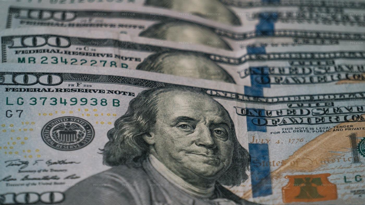 One Hundred Dollar Bills: Stock Photos