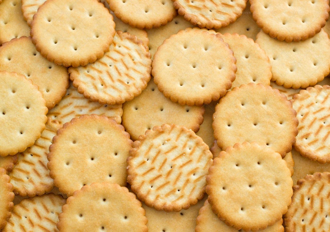Salty Cracker Cookies: Stock Photos