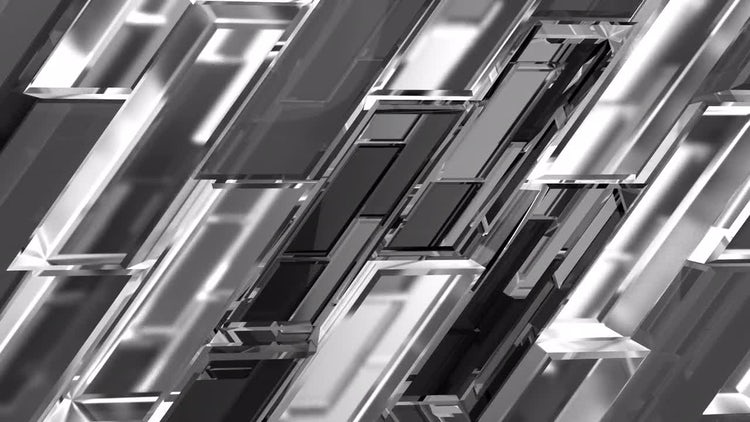 Grayscale Parallelogram: Stock Motion Graphics