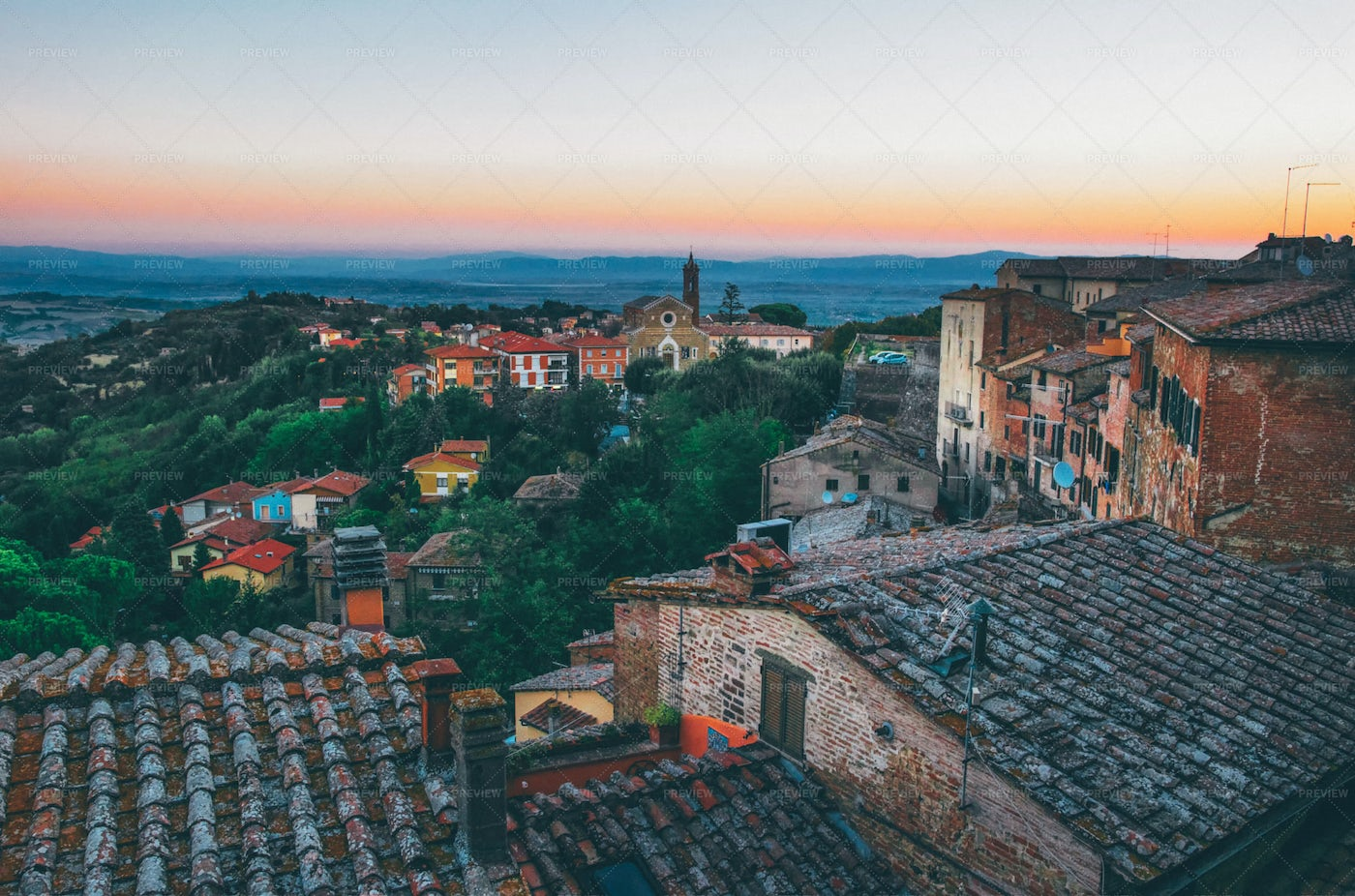 View From Montepulciano, Tuscany: Stock Photos