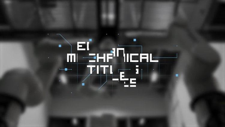 Mechanical Titles: Premiere Pro Templates