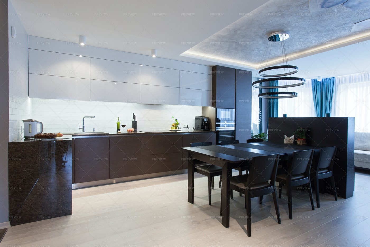 Kitchen And Dining Interior: Stock Photos