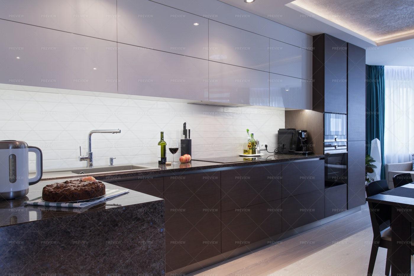 Apartment Kitchen Interior: Stock Photos