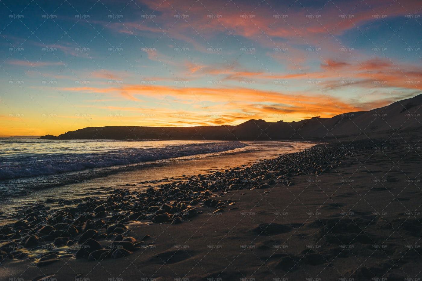 Sunset On The Beach: Stock Photos