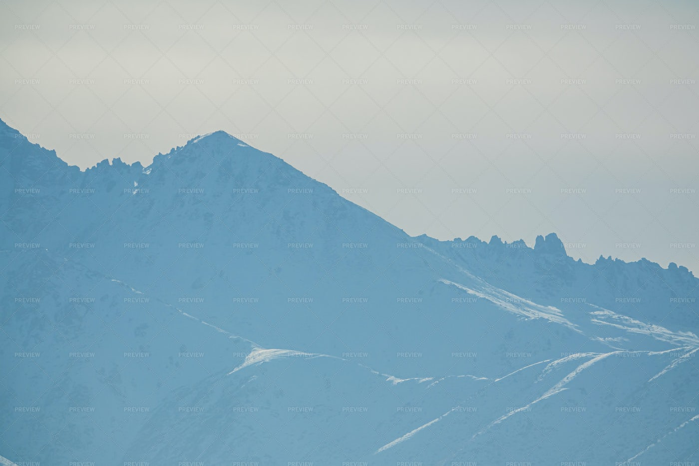 High Peaks Of Snowy Mountains: Stock Photos