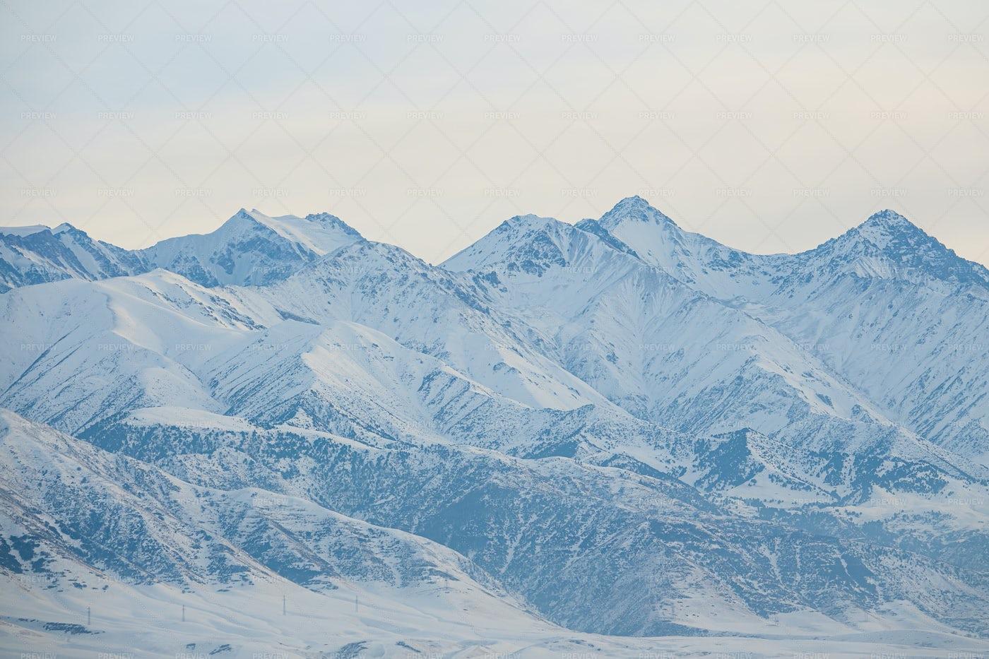 Snowy Mountains Landscape: Stock Photos